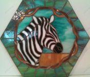 фото витраж зебра