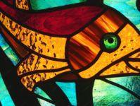 фото витраж золотая рыбка