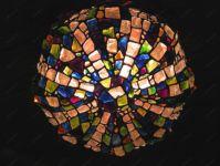 фото витражная люстра в интерьере