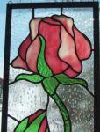 фото витражная роза