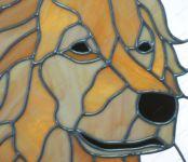 фото витражная собака