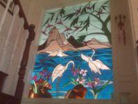 фото витражные птицы
