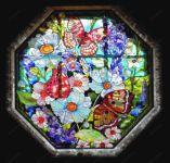 фото витражные рисунки бабочки