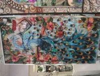 фото витражные рисунки павлин