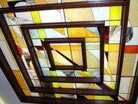 фото витражный потолок на кухне