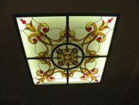 фото витражный потолок в зале