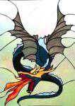 фото витражный рисунок дракончика