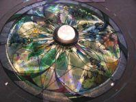 фото витражный стол калейдоскоп