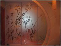 фото шкафы купе с пескоструйными рисунками