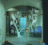 фото пескоструйная обработка стекол с рисунком