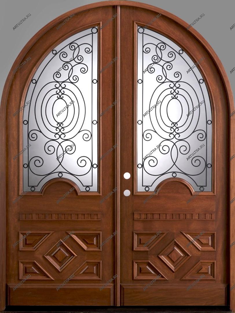 входные двери двухстворчатые распашные сварные со стеклом