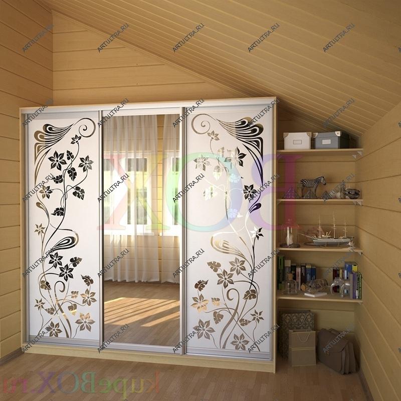 Шкафы купе фото пескоструйным рисунком