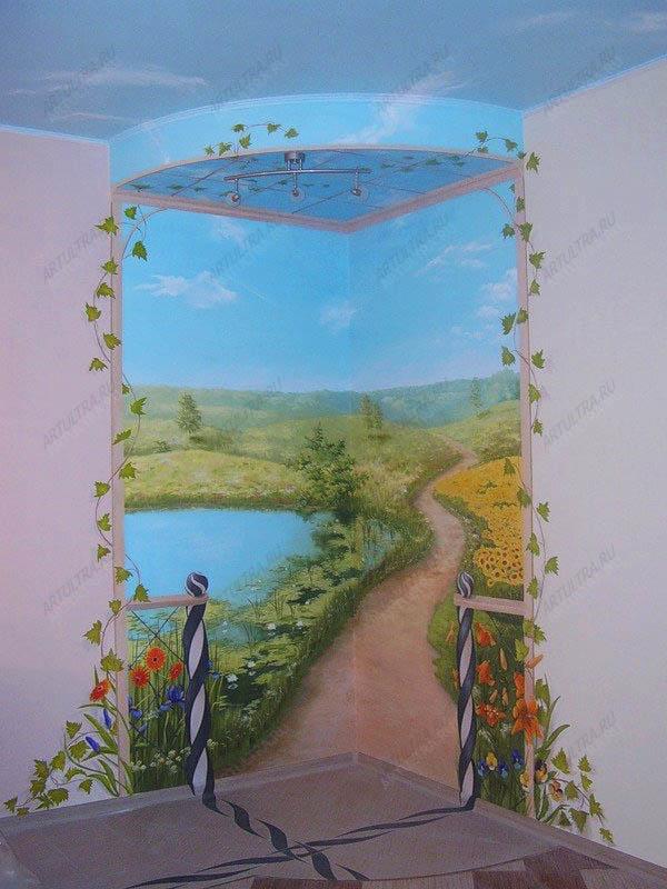 Пейзаж на стену своими руками 35