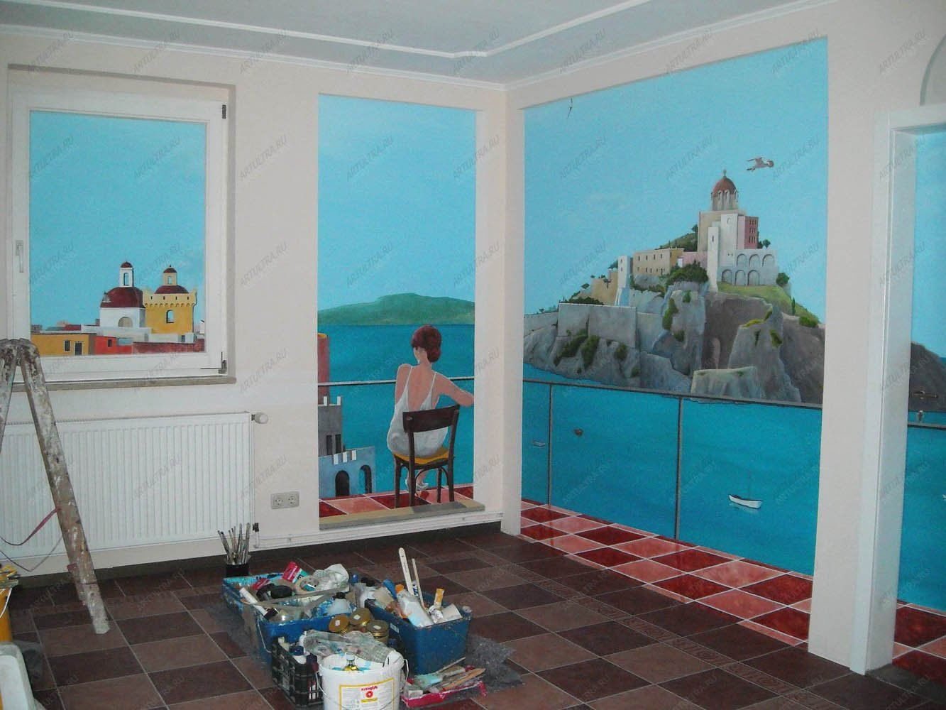 Роспись стен наружных стен