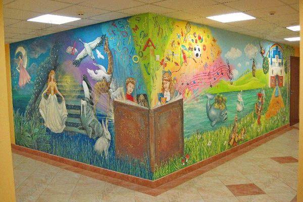 Роспись стен яблочное дерево