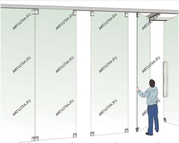 Типы конструкции раздвижных межкомнатных перегородок4