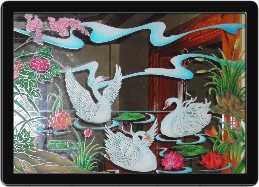 Рисунки на стекле акриловыми красками
