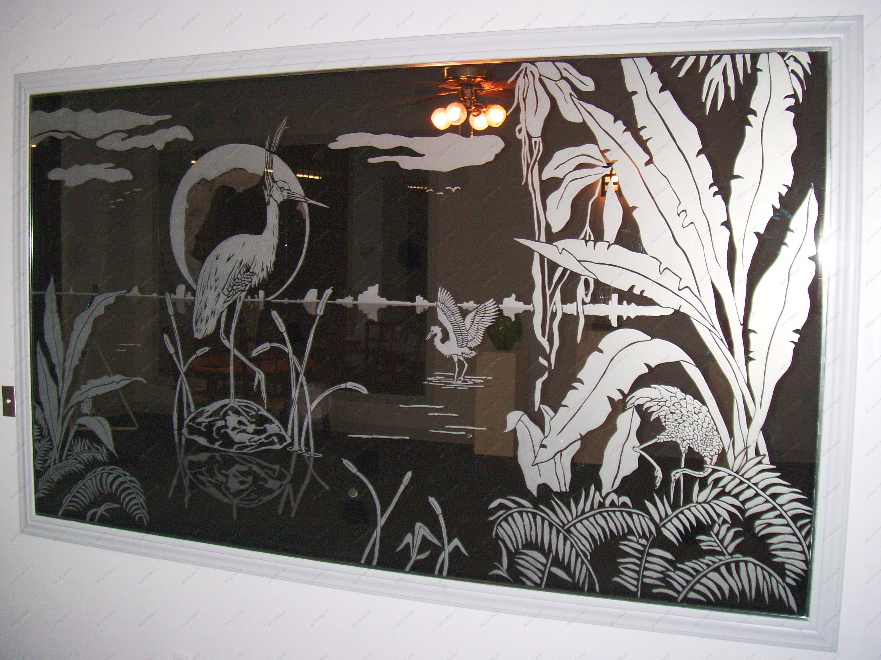 Рисунки на стекле фото фартук для кухни кафе уличное