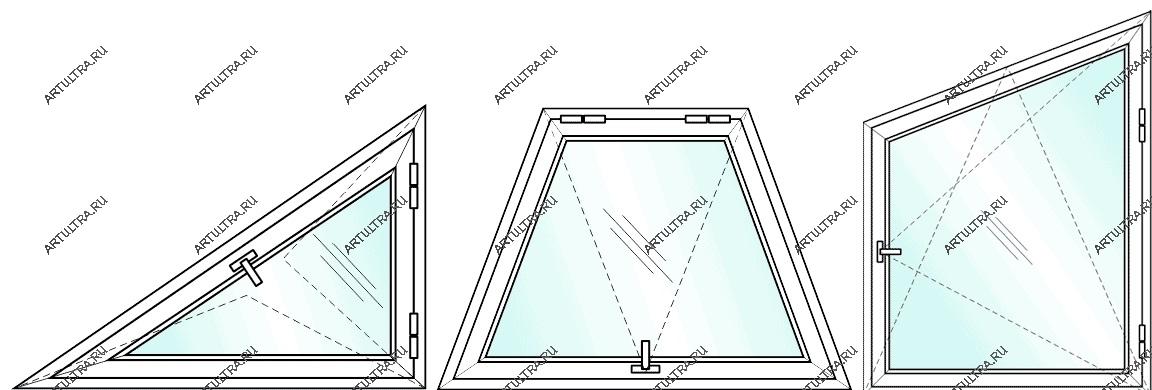 Как сделать окно трапецией