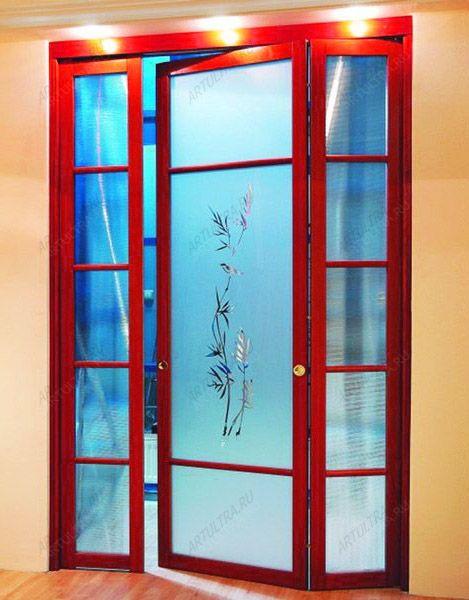 Складные межкомнатные двери — фото