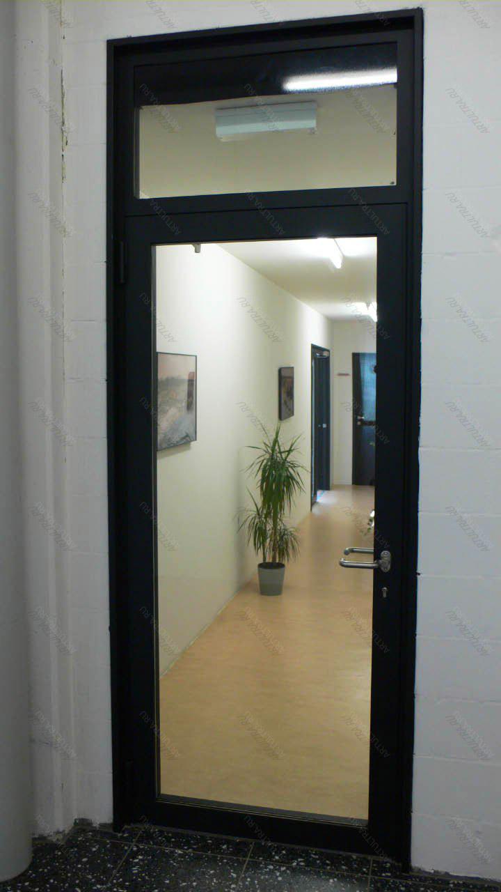металлические двери с окном сверху