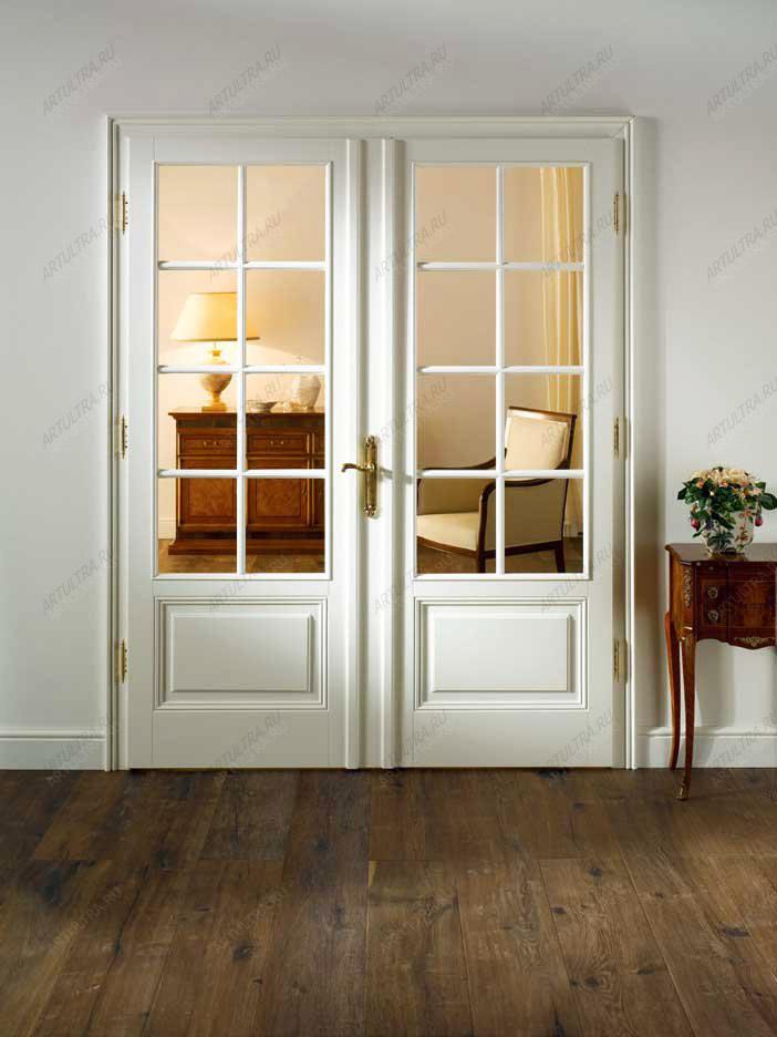 Двери белые межкомнатные двойные