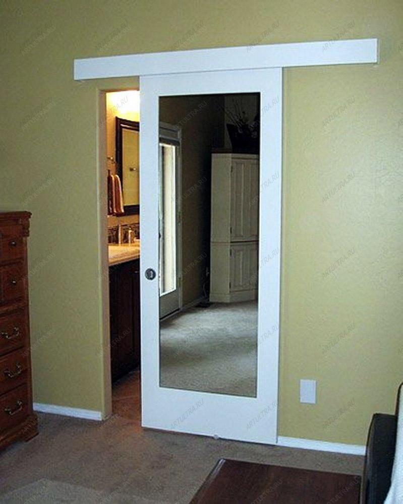 Межкомнатные зеркальные двери в белой