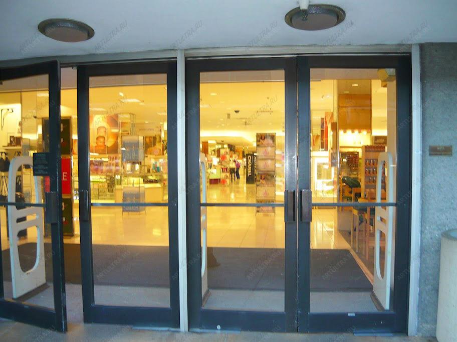 металлическая дверь в торговый центр