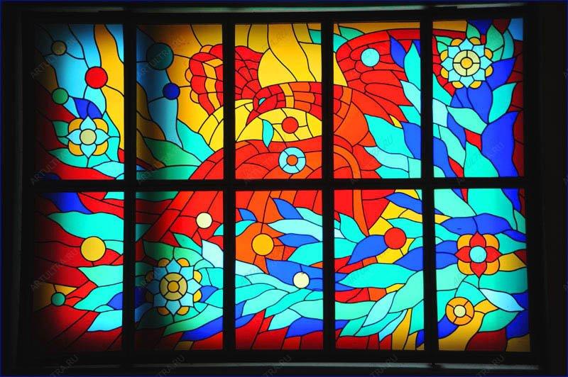 Витражное стекло своими руками с детьми 27