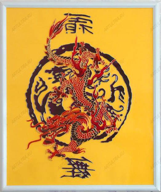 стеклу - китайский дракон