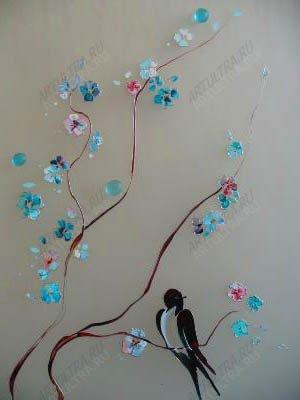 Картины на стекле акриловыми красками своими руками