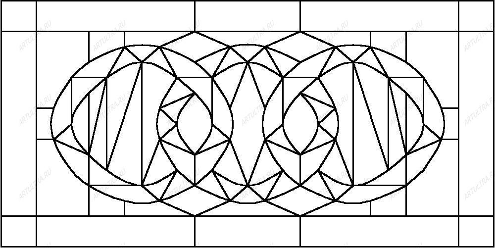 схемы рисунков витражные
