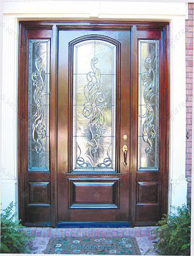 витражи во входных дверях