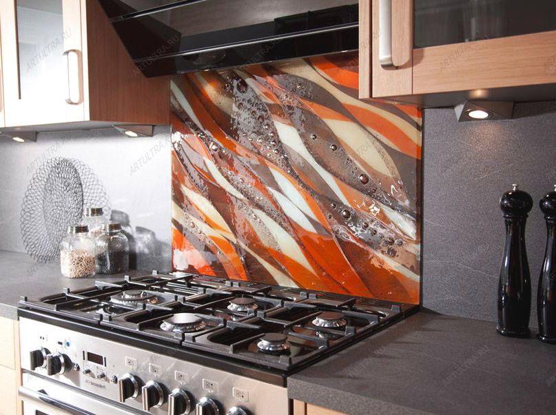 Фартуки для кухни своими руками из стекла видео