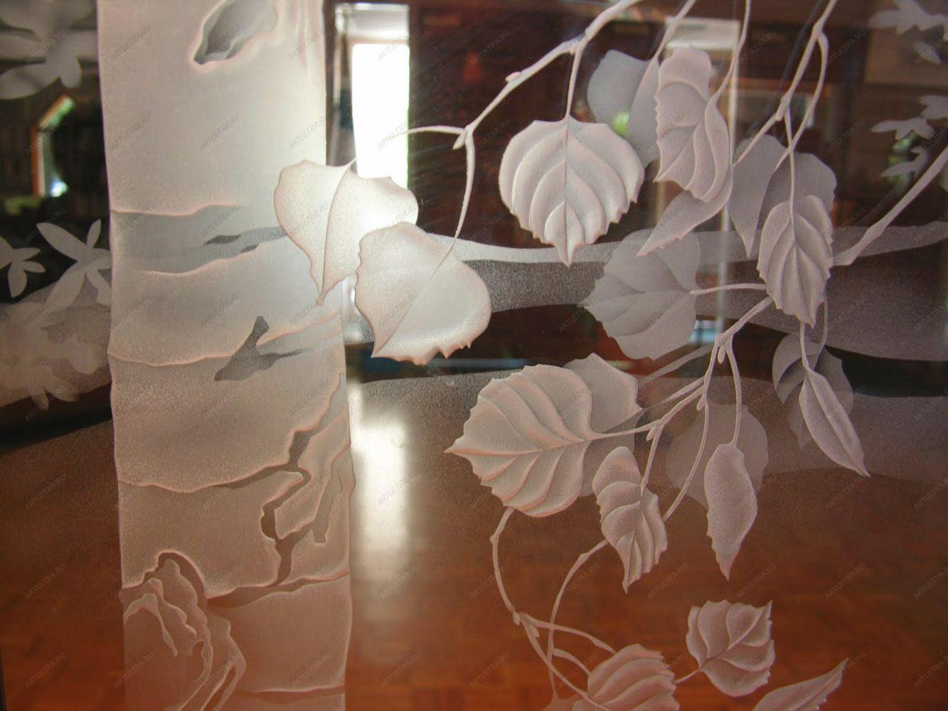 Пескоструйные узоры на стекле фото
