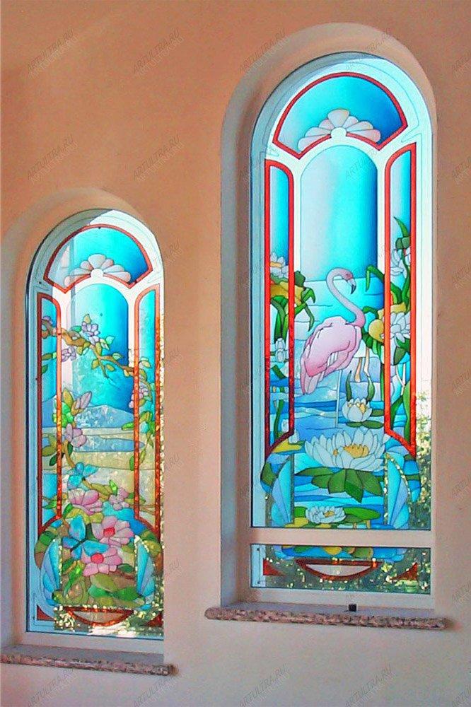 Рисунок на угол окна