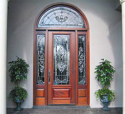 витраж для входной двери